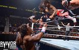 莱贝克&乌索兄弟&lucha组合vs新一天&希莫斯&巴雷特《WWE2015强者生存》