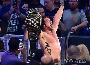 AJ·斯泰尔斯成为新的WWE世界冠军!