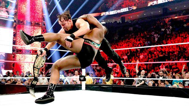 大 E vs 迪安 安布罗斯 WWE2013地狱牢笼大赛 27