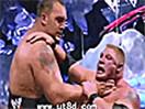【必杀绝技】WWE这才是无敌巨兽!大秀哥生涯十大最残暴喉轮落锁喉抛摔TOP 1
