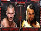 WWE毒蛇出动势不可挡!兰迪奥尔顿vs赛斯罗林斯&凯恩&HHH&斯蒂芬妮-RA