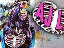 WWE选手画布!艺术家手画AJ女郎小鸟依人可爱形象(2014.11.05版) - 狂野角斗士