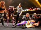 WWE女子撕衣-内衣肉搏赛:贝莉vs莎莎(贝琪美林)-NXT摔角2014年11月27日 - 狂野角斗