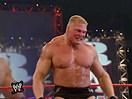 WWE经典大战史!布洛克莱斯纳首秀大秀野兽炸弹摔F5黑暗龙卷风(2014.12.01期) - 狂
