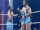 WWE六人大战!大E兰斯顿&科菲金士顿&哈维尔伍兹vs&麦克格里&斯莱特