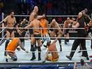 WWE二十人皇家上绳挑战赛!大秀哥vs大力士鲁瑟夫vs卢克哈珀vs吉米兄弟vs金粉人