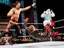 WWE双打大战!大白兔&亚当罗斯vs金粉人科迪罗兹&金人-ME摔角2014年12月3日