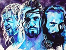 WWE选手画布!艺术家手画道夫齐格勒&赛斯罗林斯&埃里克罗温霸气形象(2014.12.09) - 狂野角斗士