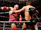 WWE六人大战!莱贝克&吉米兄弟vs凯恩&米兹&大名圣道-RAW摔角2014年12月