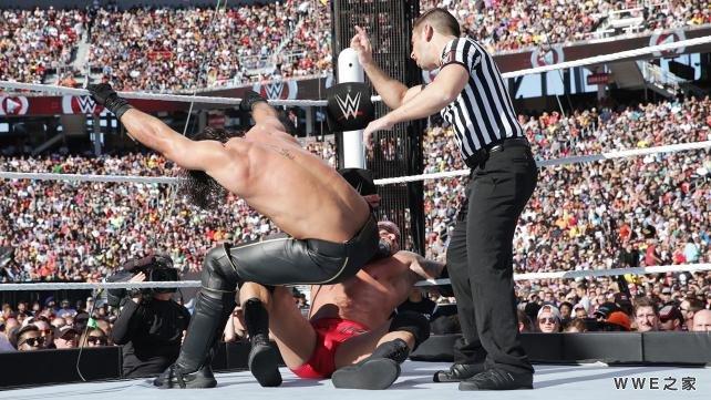 奥顿 vs 塞斯 罗林斯 WWE2015摔角狂热31 18