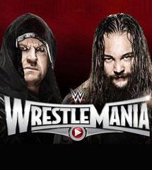 <b>送葬者vs怀亚特《WWE2015摔跤狂热大赛》</b>