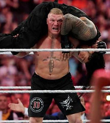 <b>布洛克vs罗曼·雷恩斯《WWE2015摔角狂热大赛》</b>