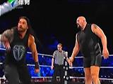【中文解说】WWE布雷怀亚特偷袭罗门伦斯!罗曼雷恩斯vs大秀哥(2016.03.28) - wwe美