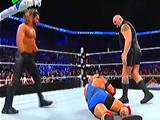【中文解说】WWE冠军大战:赛斯罗林斯vs莱贝克!罗曼雷恩斯出场揍翻大秀哥