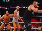 【中文解说】WWE约翰塞纳引发三天王大战!大力士鲁瑟夫vs安东尼奥塞萨罗vs凯