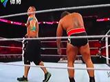 【中文解说】WWE正义王者pk大力士!约翰塞纳vs鲁瑟夫&凯文欧文斯偷袭(2016