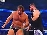 【中文解说】WWE大力士pk终结大神!鲁瑟夫vs凯文欧文斯(2016.04.18) - wwe美国职业