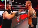 【中文解说】WWE毒蛇兰迪奥尔顿vs凯文欧文斯&希莫斯vs安东尼奥塞萨罗(2016
