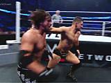 【中文官方解说】WWE现象之王pk牛叉哥!AJ斯塔尔斯vs米兹&玛丽斯(2016.06.16)