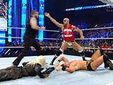 【中文官方解说】WWE四神君引发冲突!安东尼奥塞萨罗怒揍凯文欧文斯vs米兹