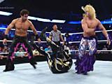 【中文官方解说】WWE四大逗比赛!范丹戈&自拍哥耍帅狂泰勒布里斯vs金人&
