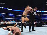 【中文官方解说】WWE四大天王赛!米兹vs凯文欧文斯vs安东尼奥塞萨罗vs萨米扎恩