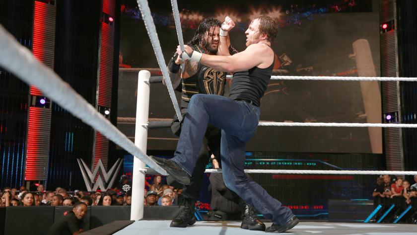 曼vs迪安vs塞斯 WWE2016战争之王 12