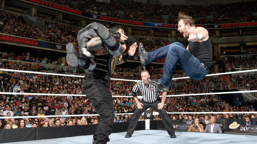 曼vs迪安vs塞斯 WWE2016战争之王 11