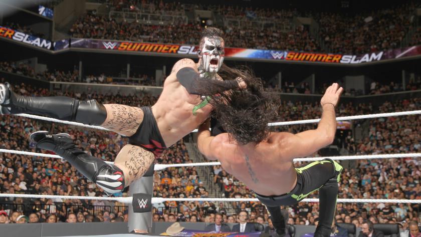 巴洛尔 vs 塞斯 罗林斯 WWE2016夏日狂潮 25